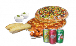 Combo #2 Pizzas - Two Pizzas & Wings