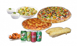 Combo #4 Pizzas - Two Pizzas & Wings