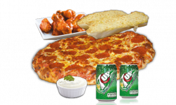 Combo #5 Pizza- 1 Pizza & Wings
